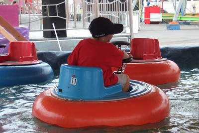 The bumper boats were probably the kids' favorite ride at the 2006 Ventura County Fair.