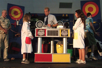 Sydney getting to participate in the Mad Science show at the 2006 Ventura County Fair.