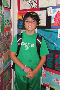 Zandler enjoying some of the arts and crafts at the 2006 Ventura County Fair.