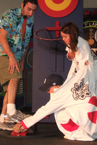 Christopher getting to participate in the Mad Science show at the 2006 Ventura County Fair.