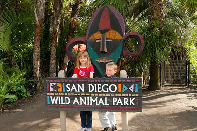 Sydney and Christopher at the Wild Animal Park.