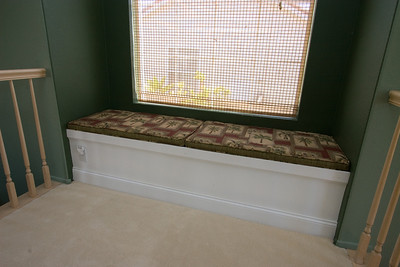 Custom window seat with internal storage for blankets and games. 2611 Woodside Place, Oxnard CA. (Image taken with Canon EOS 20D at ISO 400, f11.0, 1/20 sec and 14mm)