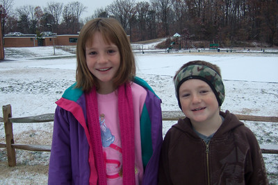 Sydney and Christopher were excited to see the first snow of the year, even though it was only a dusting. (Image taken with FinePix F10 at ISO 200, f2.8, 1/140 sec and 8mm)