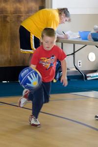 Christopher enjoying basketball camp at St. John's Lutheran School.