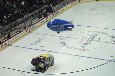 Christopher took this picture as he liked the blimp and the Zamboni. (Image taken with FinePix F10 at ISO 400, f5.0, 1/140 sec and 24mm)