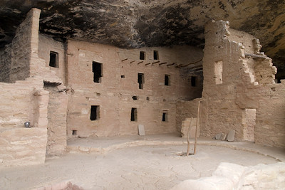 Spruce Tree House, the third largest cliff dwelling (Cliff Palace and Long House are larger), was constructed between AD 1211 and 1278 by the ancestors of the Puebloan peoples of the Southwest. The dwelling contains about 130 rooms and 8 kivas (kee-vahs), or ceremonial chambers, built into a natural cave measuring 216 feet (66 meters) at greatest width and 89 feet (27 meters) at its greatest depth. It is thought to have been home for about 80 people. Mesa Verde, Spanish for green table, offers a spectacular look into the lives of the Ancestral Pueblo people who made it their home for over 700 years, from A.D. 600 to A.D. 1300. Today, the park protects over 4,000 known archeological sites, including 600 cliff dwellings. These sites are some of the most notable and best preserved in the United States. (Image taken with Canon EOS 20D at ISO 400, f5.6, 1/125 sec and 17mm)