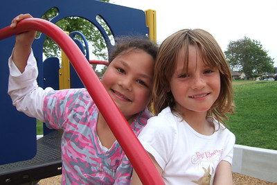 The kids enjoying a play date at one of Oxnard's parks.