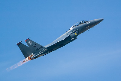 F-15E Eagle 89-0485 / SJ. 2007 Point Mugu Air Show (Image taken with Canon EOS-1D at ISO 200, f4.0, 1/4000 sec and 280mm)
