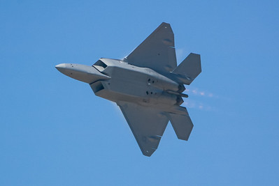 F-22 Raptor. 2007 Point Mugu Air Show (Image taken with Canon EOS-1D at ISO 200, f4.0, 1/4000 sec and 280mm)