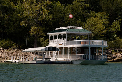 Alan Jackson's house boat at his lakeside retreat on Center Hill Lake, which is located about an hour east of Nashville, Tennessee. (Image taken with Canon EOS 20D at ISO 200, f11.0, 1/500 sec and 70mm)