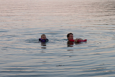 Pat and Christopher enjoying a swim at Edgar Evins State Park, which is located about an hour east of Nashville, Tennessee. (Image taken with Canon EOS 20D at ISO 400, f7.1, 1/250 sec and 70mm)