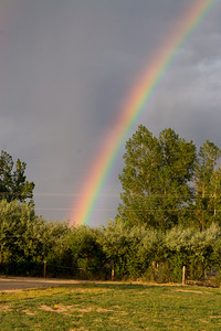 Rainbow outside of John and Tracy's home in Longmont, CO. (Image taken with Canon EOS 20D at ISO 400, f11.0, 1/250 sec and 62mm)