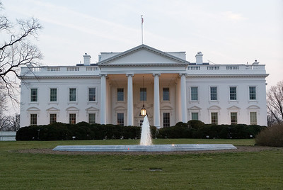 North façade of the White House, seen from Pennsylvania Avenue.