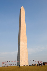 The Washington Monument is the most prominent, as well as one of the older, attractions in Washington, D.C. It was built in honor of George Washington, who led the country to independence, and then became its first President. The Monument is shaped like an Egyptian obelisk, 555-ft 5/8-in high, and averages 30 to 40 miles visibility in clear weather. It was finished on December 6, 1884.