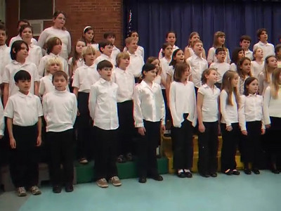 VIDEO. Warm-up song showing the whole Taylor Elementary School 4th Grade Chorus