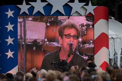 """Huey Lewis and the News.   We celebrated the 4th of July on the West Lawn of the U.S. Capitol with the Buck Thomas family enjoying PBS' A Capitol Fourth--America's biggest and best-loved 4th of July concert, which was hosted by actor Jimmy Smits. We enjoyed performances by Huey Lewis and the News, Jerry Lee Lewis and American Idol winner Taylor Hicks, then watched a spectacular fireworks display with the Washington Monument as the backdrop while the National Symphony Orchestra played Tchaikovsky's """"1812 Overture."""" (Image taken with Canon EOS 20D at ISO 800, f3.2, 1/250 sec and 200mm)"""