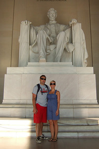 Lincoln Memorial. Kathy's niece, Anita, and her boyfriend, Andrew, were our first guests in our new home. They were in the States for a visit from England, so we showed them the sights of Washington D.C. (Image taken with FinePix F10 at ISO 200, f5.0, 1/400 sec and 8mm)