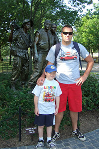 Christopher and Andrew in front of the Three Servicement Statue. Kathy's niece, Anita, and her boyfriend, Andrew, were our first guests in our new home. They were in the States for a visit from England, so we showed them the sights of Washington D.C. (Image taken with FinePix F10 at ISO 200, f4.0, 1/250 sec and 8mm)