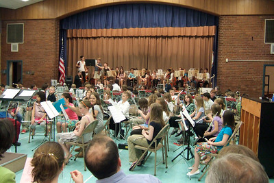 Taylor Elementary School's 2008 Spring Concert, with performances by the band and orchestra. Sydney was on the flute. (Image taken with FinePix F10 at ISO 800, f2.8, 1/50 sec and 8mm)