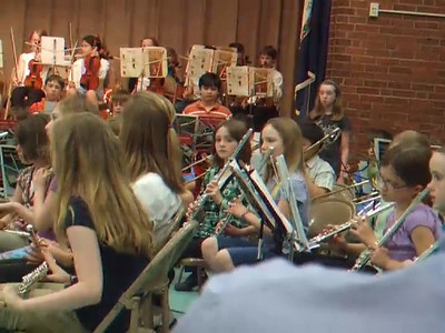 Taylor Elementary School's 2008 Spring Concert, with performances by the band and orchestra. Sydney was on the flute.