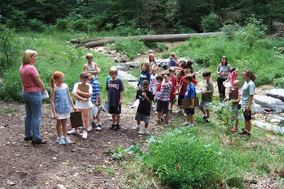 Christopher's 3rd grade class field trip to Donaldson Run Park. (Image taken with FinePix F10 at ISO 200, f2.8, 1/280 sec and 8mm)
