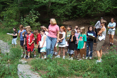 Christopher's 3rd grade class field trip to Donaldson Run Park. (Image taken with FinePix F10 at ISO 100, f2.8, 1/240 sec and 8mm)