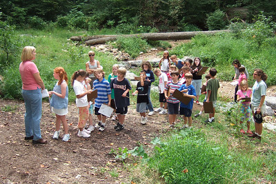 Christopher's 3rd grade class field trip to Donaldson Run Park. (Image taken with FinePix F10 at ISO 200, f2.8, 1/300 sec and 8mm)
