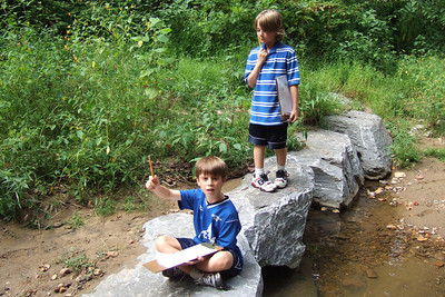 Christopher's 3rd grade class field trip to Donaldson Run Park. (Image taken with FinePix F10 at ISO 200, f2.8, 1/350 sec and 8mm)