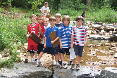 Christopher's 3rd grade class field trip to Donaldson Run Park. (Image taken with FinePix F10 at ISO 200, f3.2, 1/240 sec and 10.4mm)