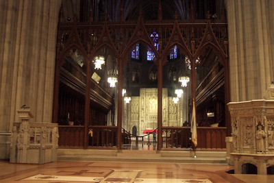 While Dad stayed at the house to enjoy some peace and quiet, Pat took his mother, Mary Clare, to the Washington National Cathedral for a tour. (Image taken with FinePix F10 at ISO 800, f2.8, 1/14 sec and 8mm)