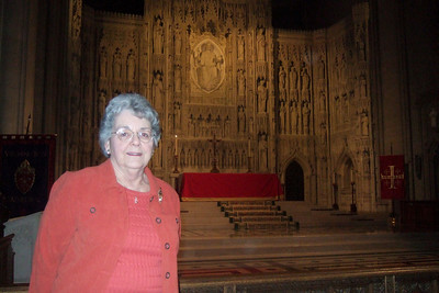 While Dad stayed at the house to enjoy some peace and quiet, Pat took his mother, Mary Clare, to the Washington National Cathedral for a tour. (Image taken with FinePix F10 at ISO 1000, f2.8, 1/100 sec and 8mm)
