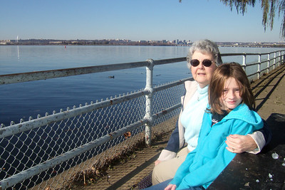 Mary Clare and her granddaughter, Sydney, enjoying a view across the Potomac from Hains Point. (Image taken with FinePix F10 at ISO 200, f6.4, 1/800 sec and 8mm)
