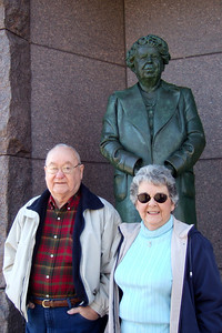 Grady and Mary Clare at the Franklin Delano Roosevelt Memorial. (Image taken with FinePix F10 at ISO 200, f3.2, 1/200 sec and 10.4mm)