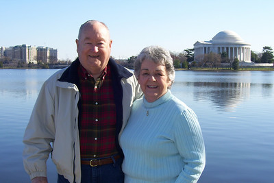 Grady and Mary Clare in front of the Thomas Jefferson Memorial. (Image taken with KODAK EASYSHARE C653 ZOOM DIGITAL CAMERA at ISO 80, f5.6, 1/250 sec and 9.4mm)