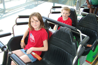 They had so much fun, they road the roller coaster three times at Kings Dominion. (21 Jun 2008) (Image taken with FinePix F10 at ISO 200, f2.8, 1/240 sec and 8mm)