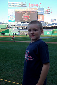 """Christopher after """"Kids Run the Bases"""" at Nationals Park. (Image taken with FinePix F10 at ISO 80, f2.8, 1/400 sec and 8mm)"""