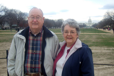 Grady and Mary Clare in front of the U.S. Capitol. (Image taken with FinePix F10 at ISO 200, f3.2, 1/320 sec and 10.4mm)