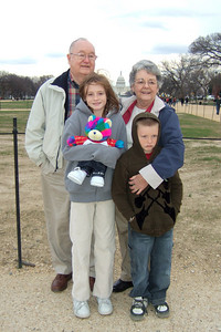 Grady and Mary Clare in front of the U.S. Capitol with their grandkids, Sydney and Christopher. (Image taken with FinePix F10 at ISO 200, f2.8, 1/400 sec and 8mm)
