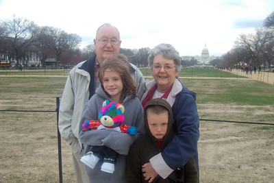 Grady and Mary Clare in front of the U.S. Capitol with their grandkids, Sydney and Christopher. (Image taken with FinePix F10 at ISO 200, f2.8, 1/340 sec and 8mm)