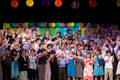 """Singing """"we go together."""" Taylor Elementary 5th Grade Graduation (15 Jun 2009) (Image taken with Canon EOS 20D at ISO 1600, f6.3, 1/50 sec and 70mm)"""