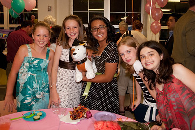 Allie, Sydney, Carolyn, Elana and Sasha. Taylor Elementary 5th Grade Graduation (15 Jun 2009) (Image taken with Canon EOS 20D at ISO 400, f4.0, 1/60 sec and 17mm)