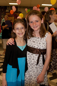 Meredith and Sydney. Taylor Elementary 5th Grade Graduation (15 Jun 2009) (Image taken with Canon EOS 20D at ISO 400, f4.0, 1/60 sec and 21mm)