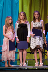 Haley, Ashley and Sydney. Taylor Elementary 5th Grade Graduation (15 Jun 2009) (Image taken with Canon EOS 20D at ISO 1600, f2.8, 1/320 sec and 150mm)
