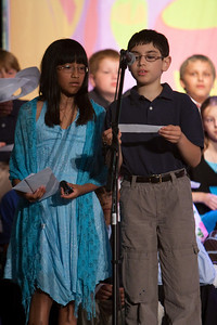 Cati and Ben. Taylor Elementary 5th Grade Graduation (15 Jun 2009) (Image taken with Canon EOS 20D at ISO 1600, f2.8, 1/80 sec and 190mm)
