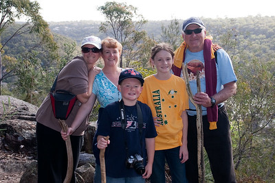 Josine, Kathy, John, Christopher and Sydney on a hike in the hills above John and Sue's. Australia (01 Jul 2009) (Image taken with Canon EOS 20D at ISO 200, f5.6, 1/125 sec and 30mm)