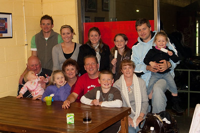 Sitting L to R: John, Emerald, Bree, Sue, Pat, Christopher and Kathy. Standing L to R: Andrew, Christie, Josine, Sydney, Bryan and Abbie. We had a great visit along with a dinner of beef ribs and pizza. Australia (03 Jul 2009) (Image taken with Canon EOS 20D at ISO 400, f4.0, 1/60 sec and 28mm)