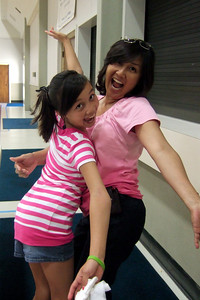 Sierra and Vivian having fun at Vacation Bible School, St. John's Lutheran Church, Oxnard (31 Jul 2009) (Image taken by Kathy T. Kane with FinePix F10 at ISO 800, f2.8, 1/104 sec and 8mm)