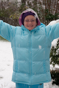 Sydney enjoying the first snow of the year. (Image taken by Kathy T. Kane on 05 Dec 2009 with Canon EOS 20D at ISO 400, f5.6, 1/125 sec and 53mm)