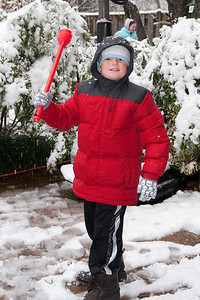 Christopher enjoying the first snow of the year. (Image taken by Kathy T. Kane on 05 Dec 2009 with Canon EOS 20D at ISO 400, f5.0, 1/60 sec and 33mm)