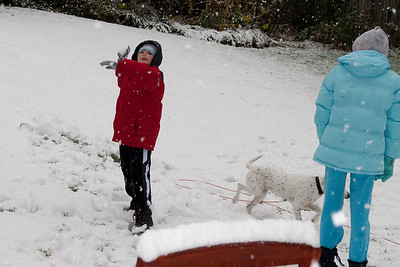 Christopher enjoying the first snow of the year. (Image taken by Kathy T. Kane on 05 Dec 2009 with Canon EOS 20D at ISO 400, f6.3, 1/250 sec and 40mm)